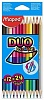 Карандаши цветные MAPED COLOR'PEPS DUO (24 цвета)