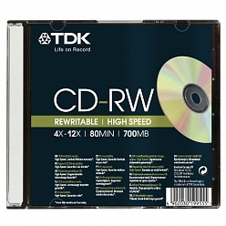 CD-RW диски TDK, slim case