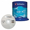 CD-R Verbatim 700 Mb 52х Cake Box (100шт/уп)