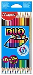 ��������� ������� MAPED COLOR'PEPS DUO (24 �����)